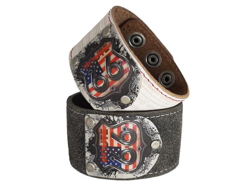 Armband für Biker mit Route 66 Vintage